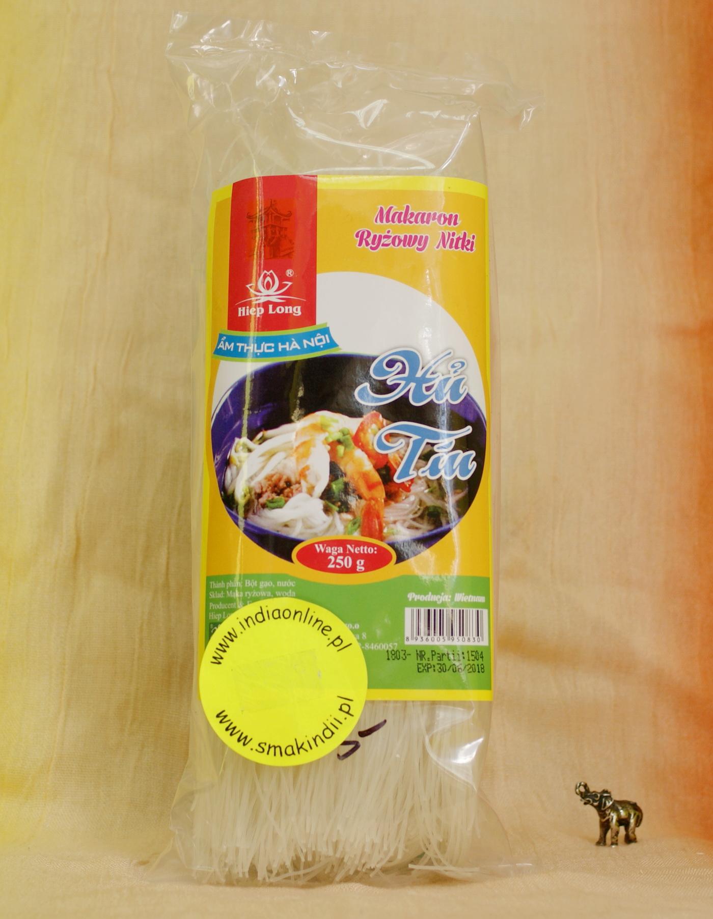 Kuchnia Azjatycka Makaron Ryzowy Nitki 250g Tajskie Thai